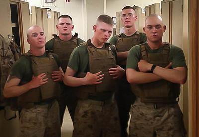 The mortar men of Company B - Cooper, Sheets, Boyd, DeForest, Peronski
